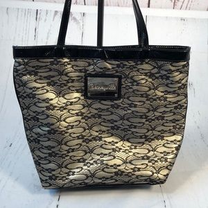 Betsey Johnson Betseyville lace tote bag.
